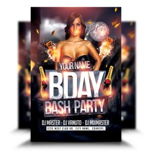 birthday party flyers archives