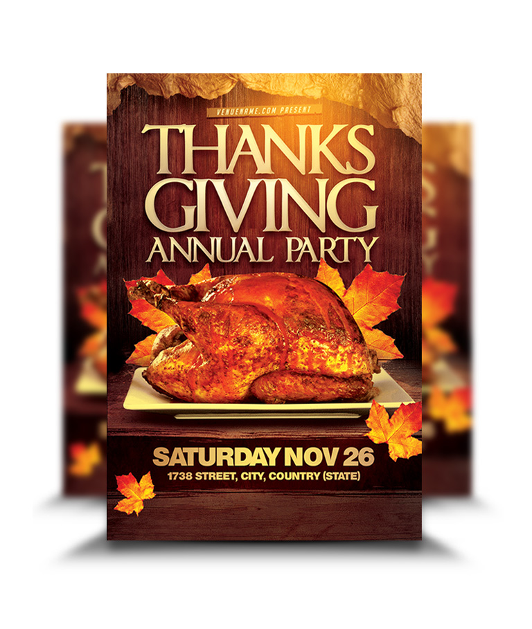 thanksgiving annual party flyer