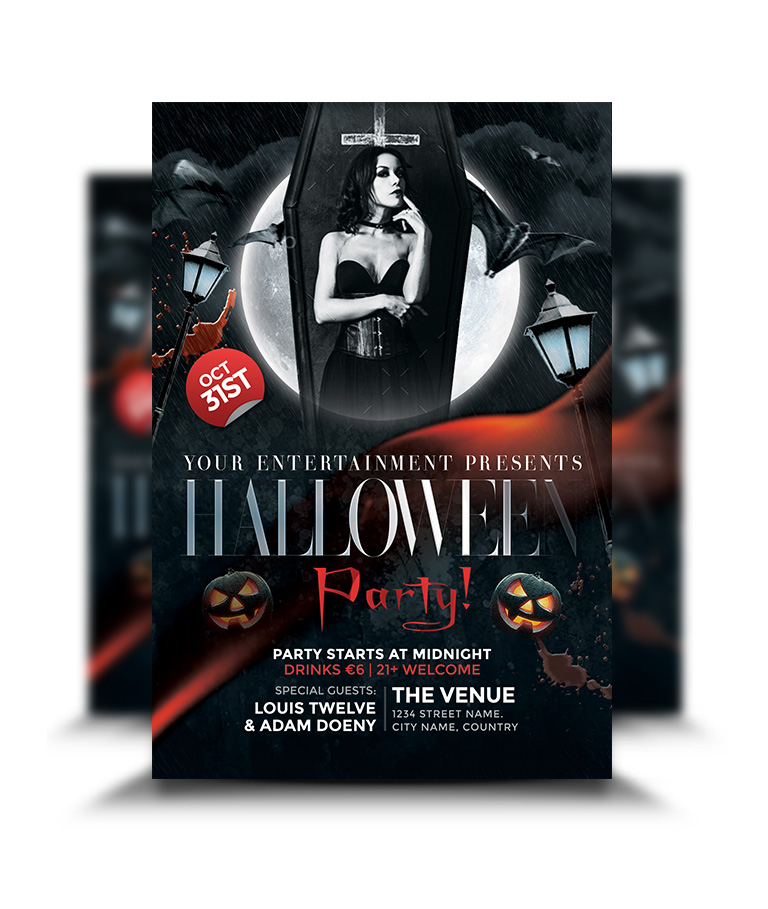 Halloween Party Flyer - Graphicsflood.Com