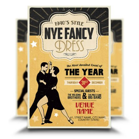 1940's Style New Year Eve Flyer