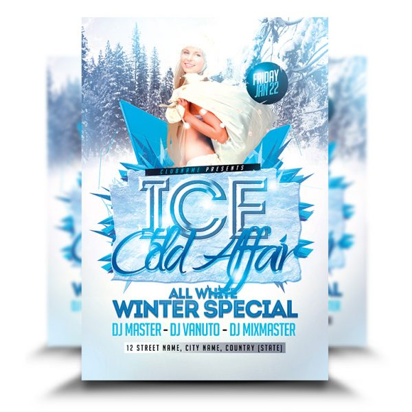Ice Cold Affair Party Flyer