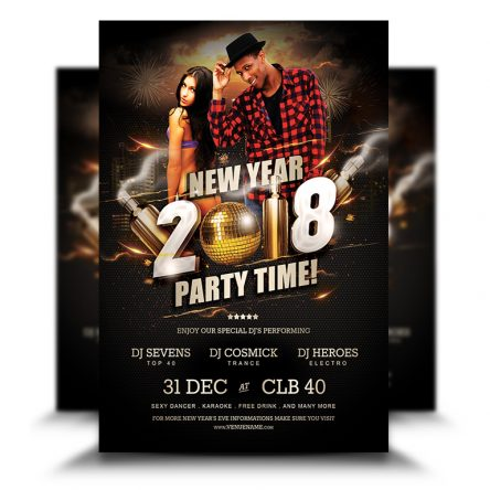 New Year Eve Party Time Flyer